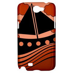 Boat - red Samsung Galaxy Note 2 Hardshell Case