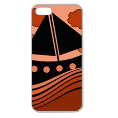 Boat - red Apple Seamless iPhone 5 Case (Clear)