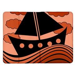 Boat - red Kindle Fire (1st Gen) Flip Case