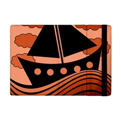 Boat - red Apple iPad Mini Flip Case