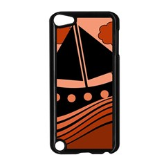 Boat - red Apple iPod Touch 5 Case (Black)