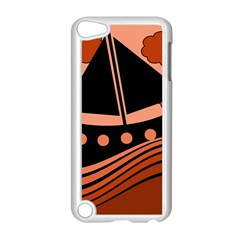 Boat - red Apple iPod Touch 5 Case (White)
