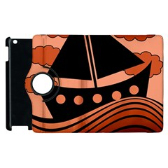 Boat - red Apple iPad 2 Flip 360 Case
