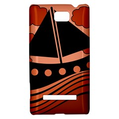 Boat - red HTC 8S Hardshell Case