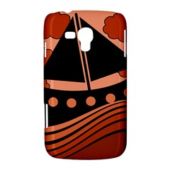 Boat - red Samsung Galaxy Duos I8262 Hardshell Case
