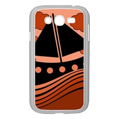 Boat - red Samsung Galaxy Grand DUOS I9082 Case (White)