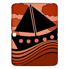 Boat - red Samsung Galaxy Tab 3 (10.1 ) P5200 Hardshell Case