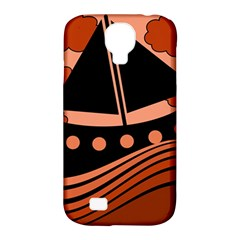 Boat - red Samsung Galaxy S4 Classic Hardshell Case (PC+Silicone)