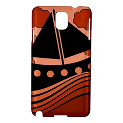 Boat - red Samsung Galaxy Note 3 N9005 Hardshell Case