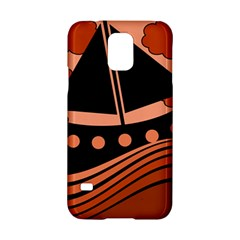 Boat - red Samsung Galaxy S5 Hardshell Case