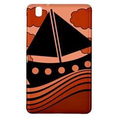 Boat - red Samsung Galaxy Tab Pro 8.4 Hardshell Case