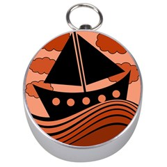Boat - red Silver Compasses