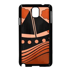 Boat - red Samsung Galaxy Note 3 Neo Hardshell Case (Black)