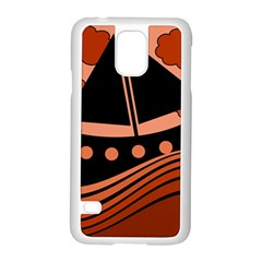 Boat - red Samsung Galaxy S5 Case (White)