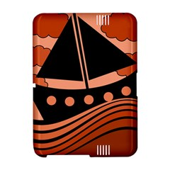 Boat - red Amazon Kindle Fire (2012) Hardshell Case