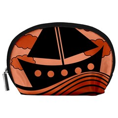 Boat - red Accessory Pouches (Large)
