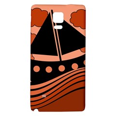 Boat - red Galaxy Note 4 Back Case