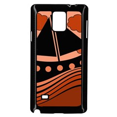 Boat - red Samsung Galaxy Note 4 Case (Black)