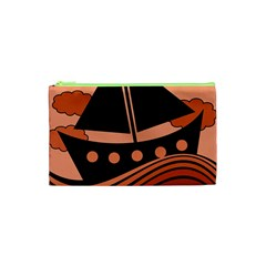 Boat - red Cosmetic Bag (XS)