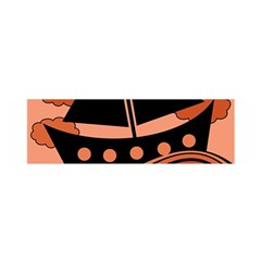 Boat - red Satin Scarf (Oblong)