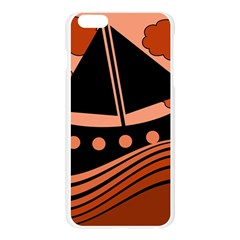 Boat - red Apple Seamless iPhone 6 Plus/6S Plus Case (Transparent)