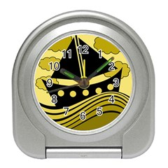 Boat - yellow Travel Alarm Clocks