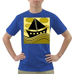 Boat - yellow Dark T-Shirt