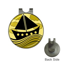 Boat - yellow Hat Clips with Golf Markers