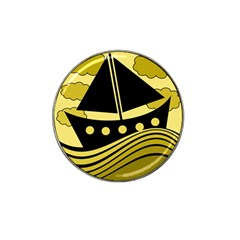 Boat - yellow Hat Clip Ball Marker
