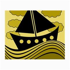 Boat - yellow Small Glasses Cloth