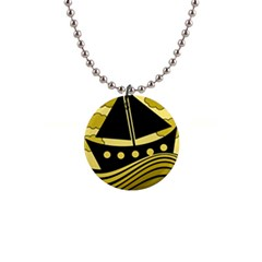 Boat - yellow Button Necklaces