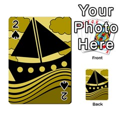 Boat - yellow Playing Cards 54 Designs