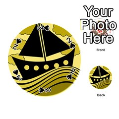 Boat - yellow Playing Cards 54 (Round)