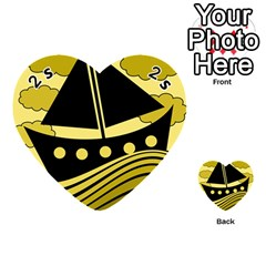 Boat - yellow Playing Cards 54 (Heart)