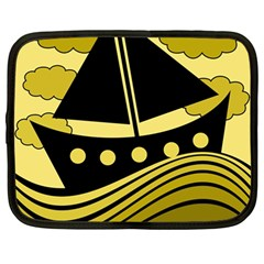 Boat - yellow Netbook Case (Large)