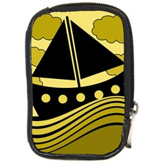 Boat - yellow Compact Camera Cases