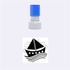 Boat - yellow Rubber Round Stamps (Small)