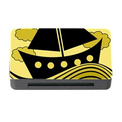 Boat - yellow Memory Card Reader with CF
