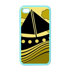 Boat - yellow Apple iPhone 4 Case (Color)