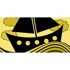Boat - yellow YOU ARE INVITED 3D Greeting Card (8x4)