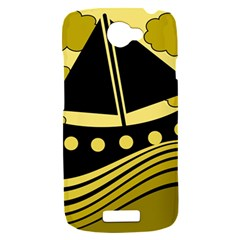 Boat - yellow HTC One S Hardshell Case