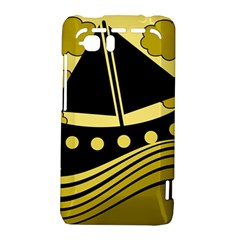 Boat - yellow HTC Vivid / Raider 4G Hardshell Case
