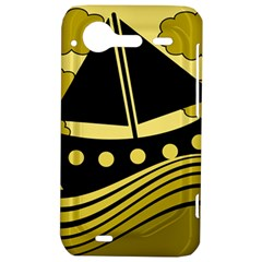 Boat - yellow HTC Incredible S Hardshell Case