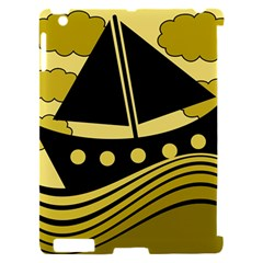 Boat - yellow Apple iPad 2 Hardshell Case (Compatible with Smart Cover)
