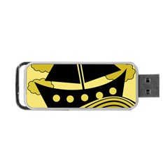 Boat - yellow Portable USB Flash (One Side)