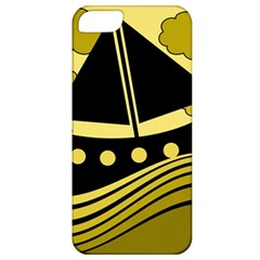Boat - yellow Apple iPhone 5 Classic Hardshell Case