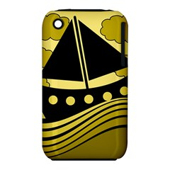 Boat - yellow Apple iPhone 3G/3GS Hardshell Case (PC+Silicone)