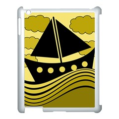 Boat - yellow Apple iPad 3/4 Case (White)
