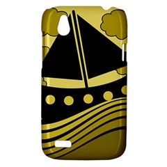 Boat - yellow HTC Desire V (T328W) Hardshell Case