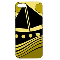 Boat - yellow Apple iPhone 5 Hardshell Case with Stand